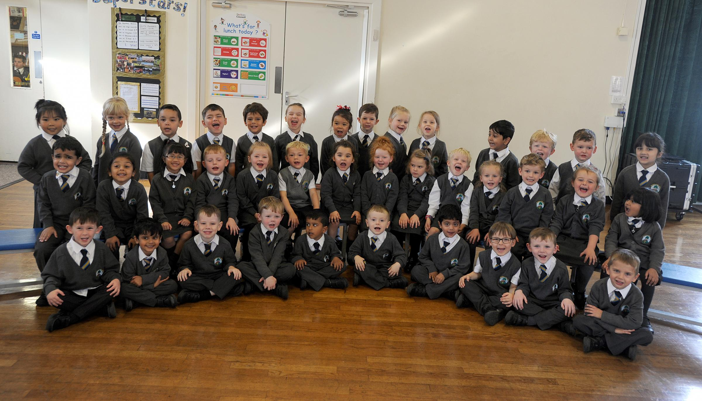 BEST START: Reception pupils at Markland Hill Primary School.