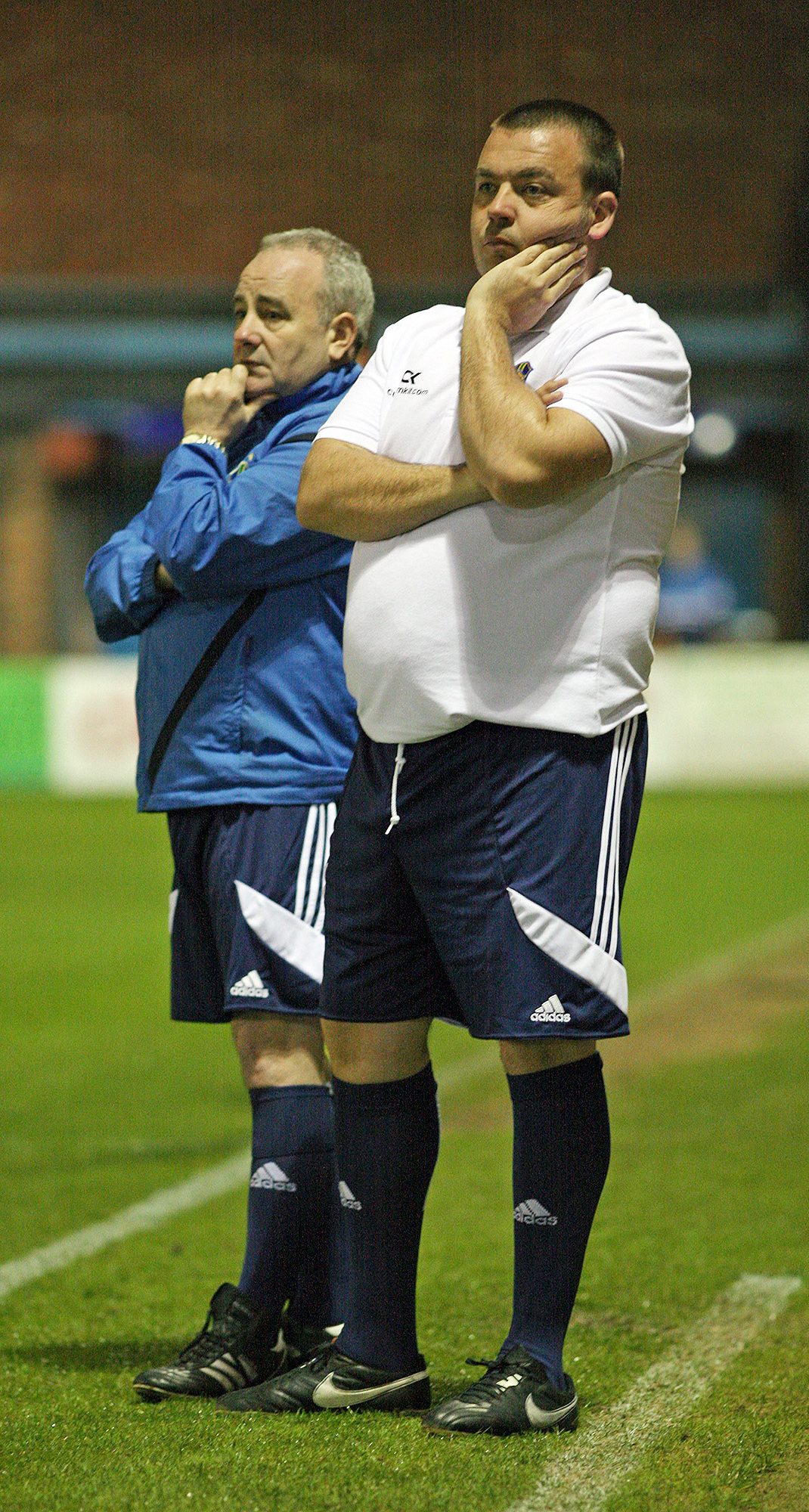 PHIL-LING GOOD: Daisy Hill manager Phil Roberts, right, with assistant manager Moray Boyd