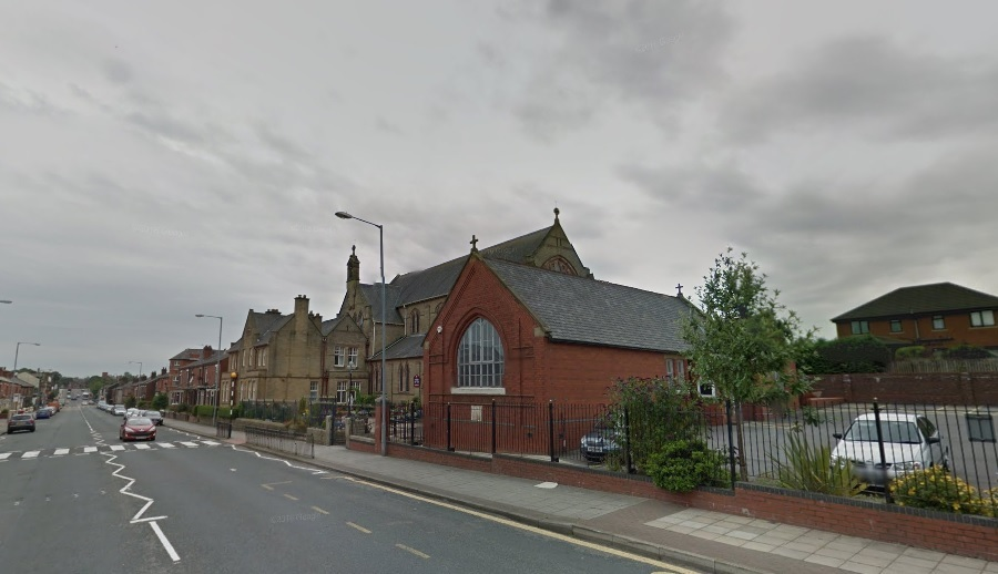 The former social club is behind St Mary's Church, off Chorley New Road, Horwich. Photo: Google Maps