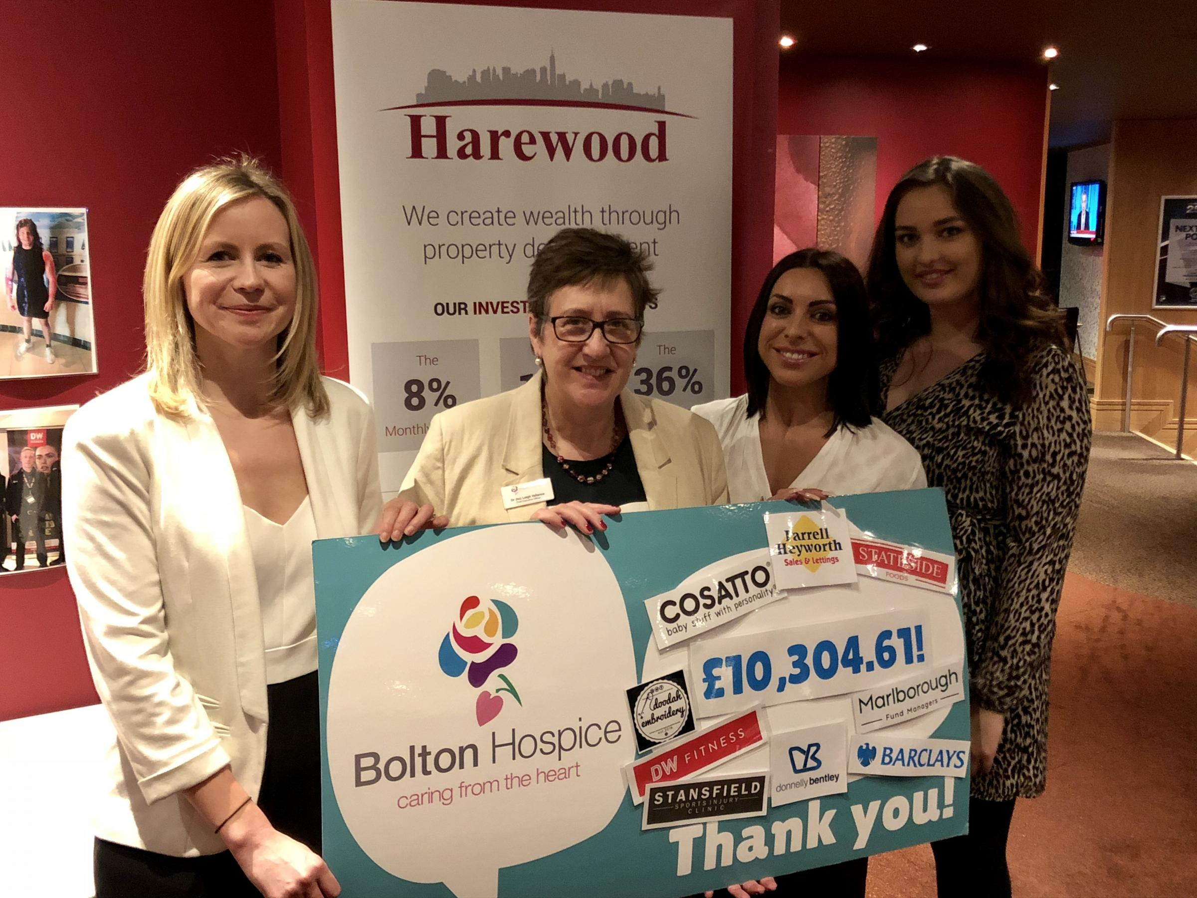 More than £10,300 was raised for Bolton Hospice through its £50 Challenge