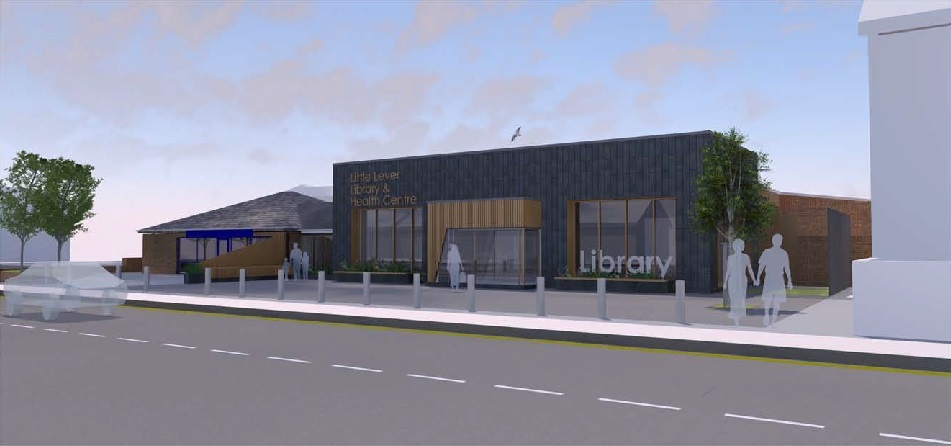 Designs for the new Little Lever Library and Health Centre