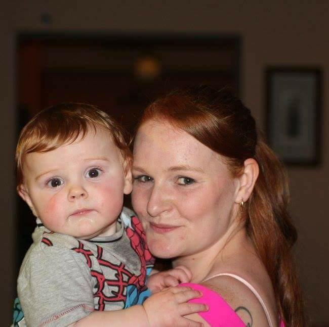 CONCERN: Bobbie Brown and son Harrison, aged 11 months