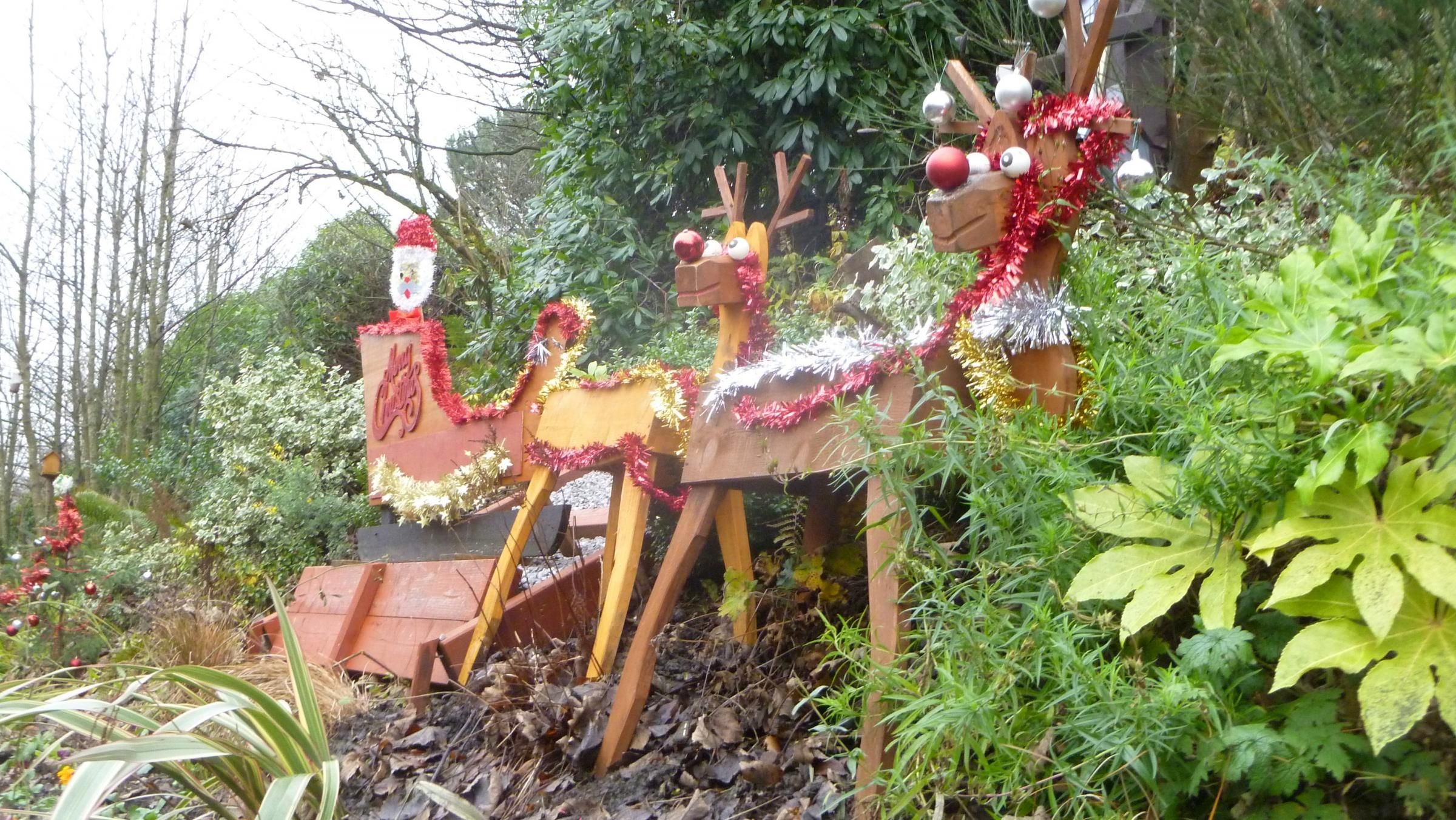 CHRISTMAS: Santa, his reindeer and his sleigh at Westhoughton Station
