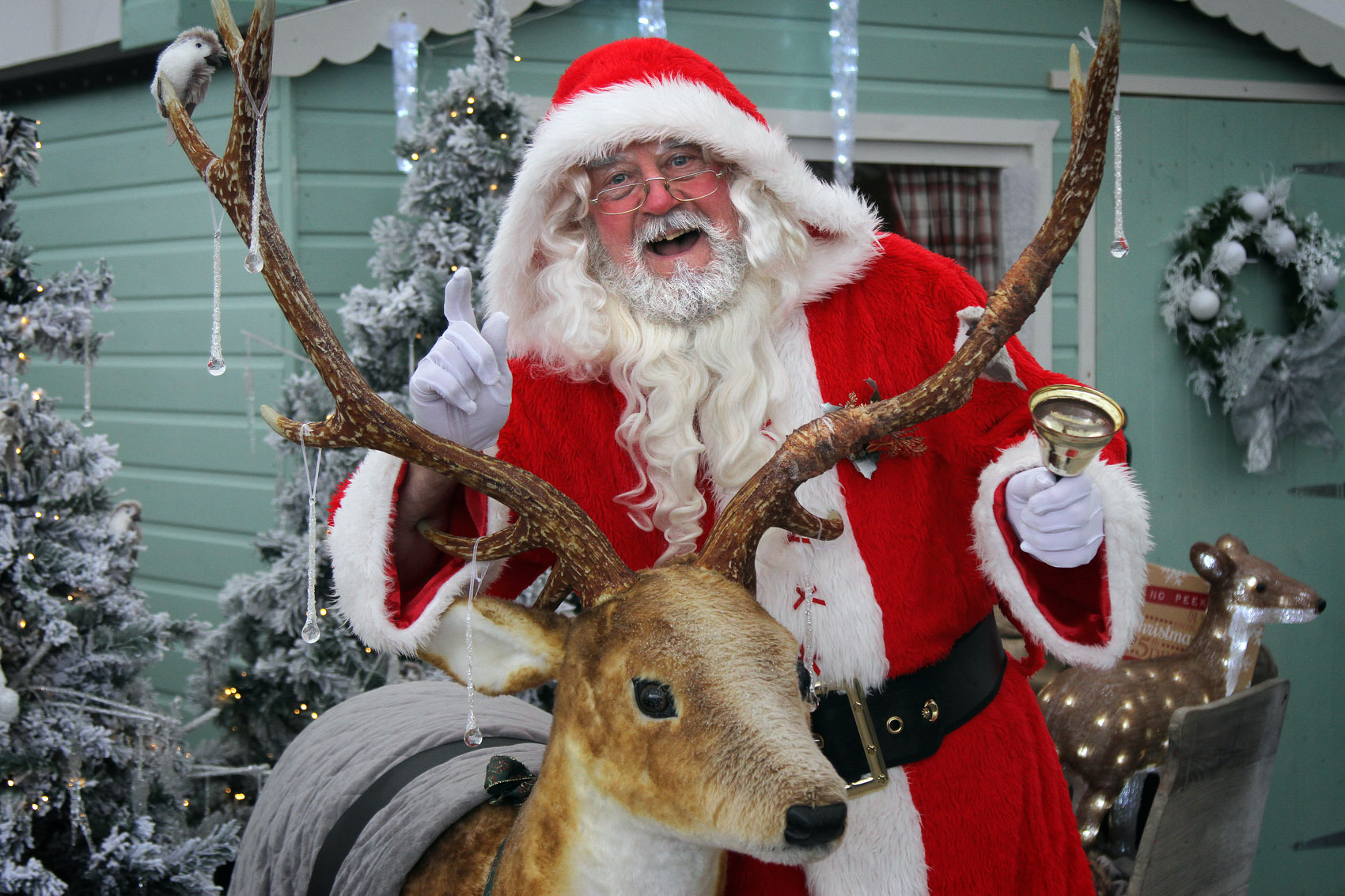 Botany Bay is ready for Christmas as Santa visited the Christmas shopping Isles and his new grotto.  He is due to officially arrive by helicopter next weekend..Santa is pictured outside his Grotto..19th November 2015.