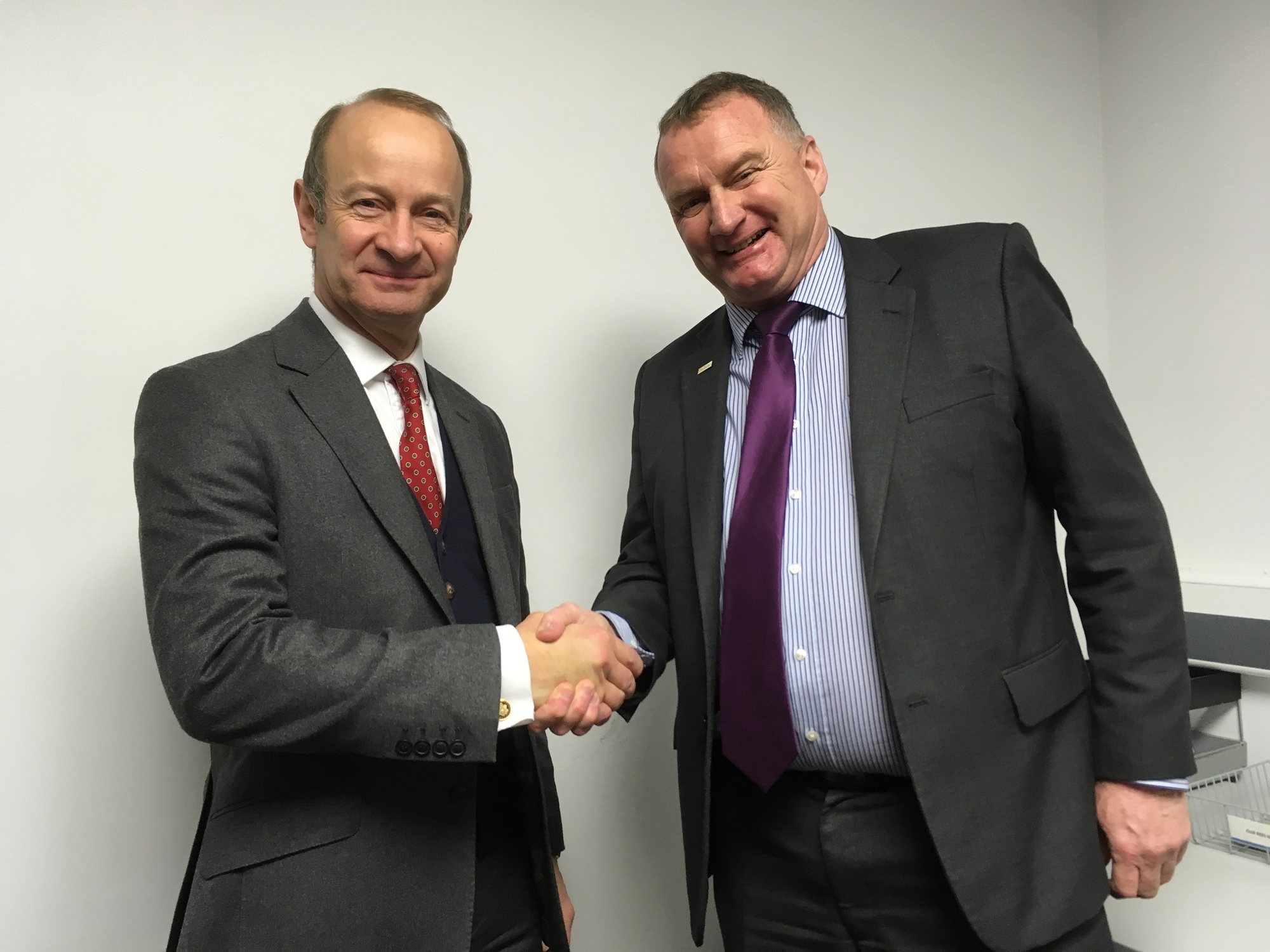 UKIP leader Henry Bolton with Cllr Sean Hornby
