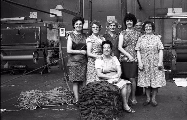 HERITAGE: Texile workers photographed at Walker Allen Textiles Finishers, in Radcliffe