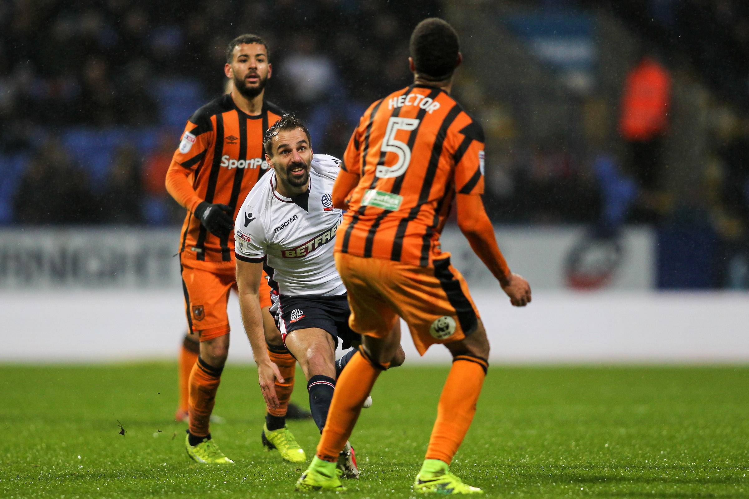 MAN IN THE MIDDLE: Filipe Morais played just behind main striker Gary Madine in the 1-0 victory over Hull City at the Macron Stadium