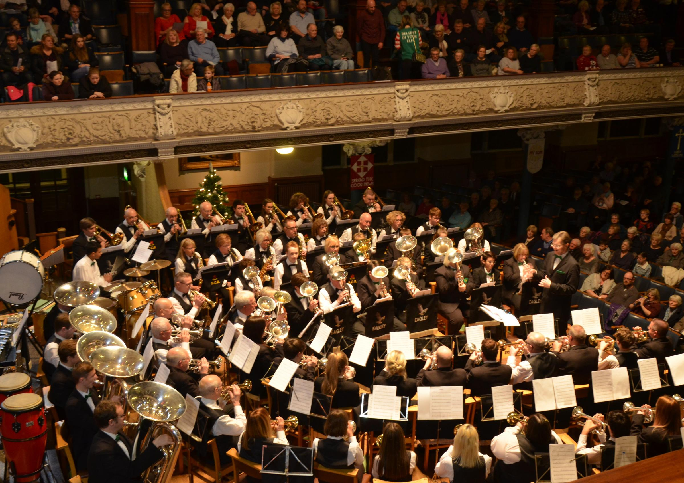 Eagley Band perform at the Victoria Hall, Christmas 2017