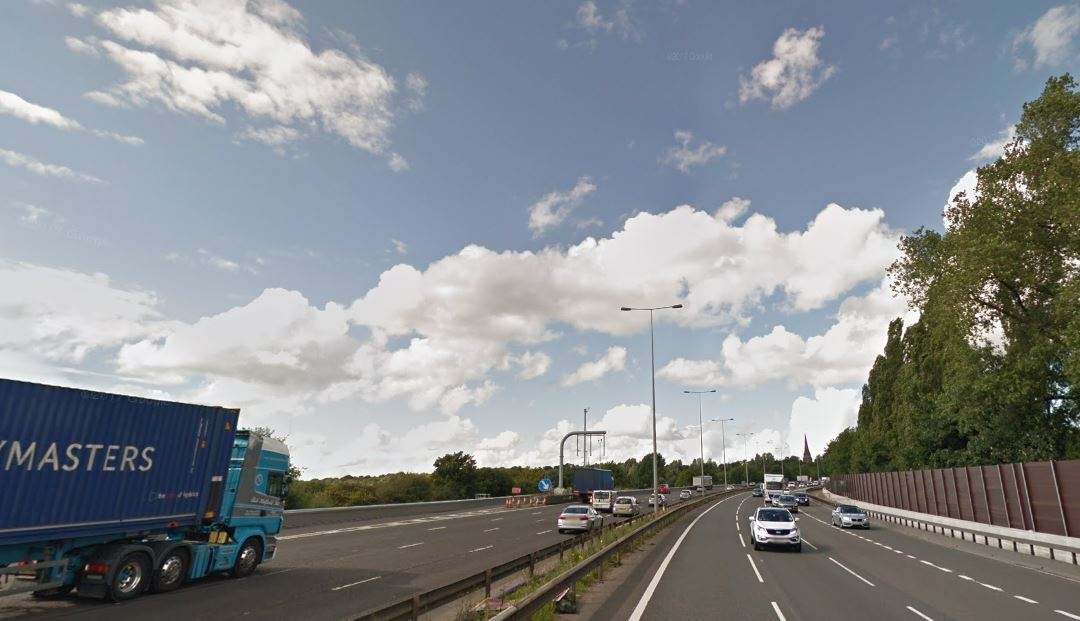 DELAYS: The M60 near Worsley. Picture from Google Maps