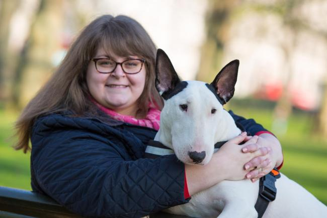 CHAMPION: Winners of last year's Friends for Life competition, Sally Deegan and Bull Terrier Bowser. Picture by The Kennel Club