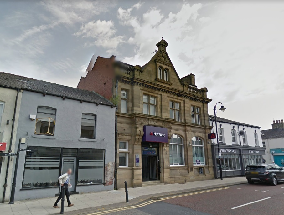 The old Natwest bank in Market Street, Westhoughton. Photo: Google Maps