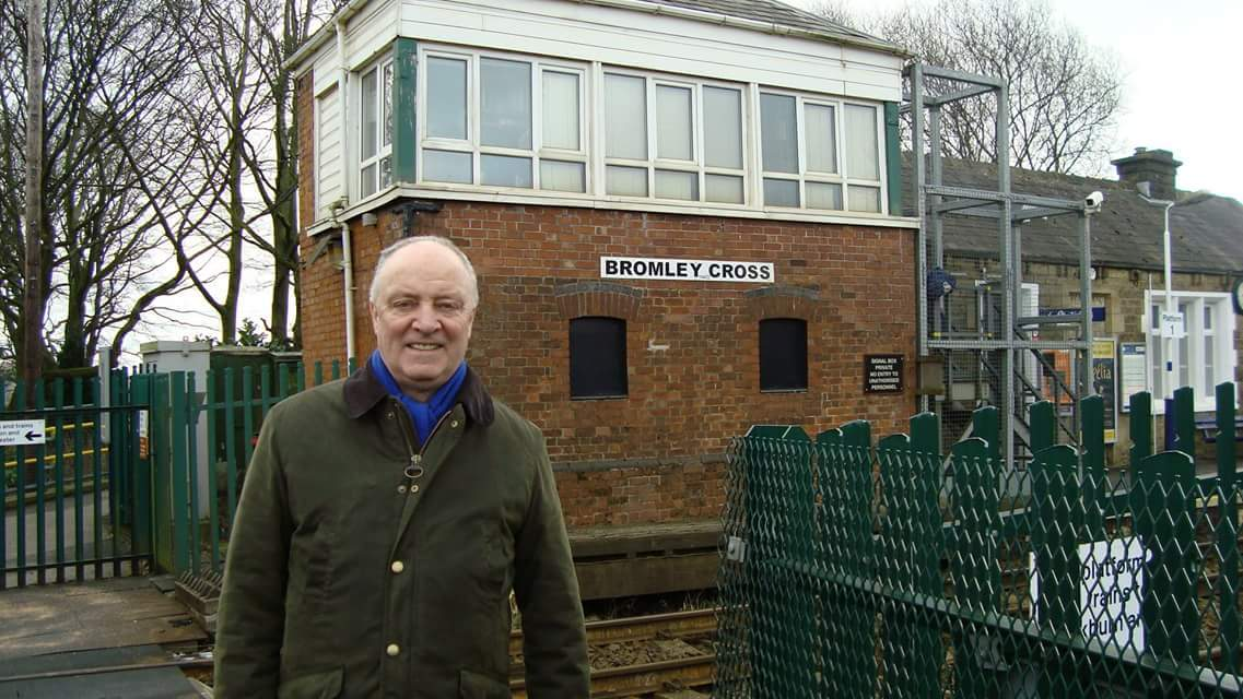 Sir David Crausby MP at Bromley Cross Railway Station