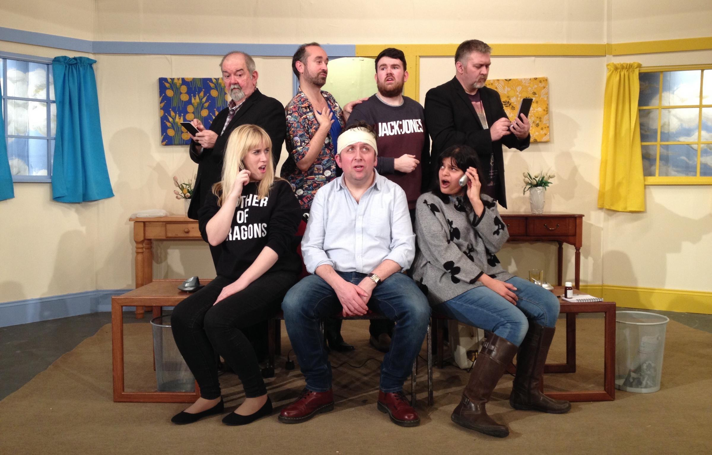COMEDY: Phoenix Theatre Company's cast of Run for Your Wife prepare to take to the stage