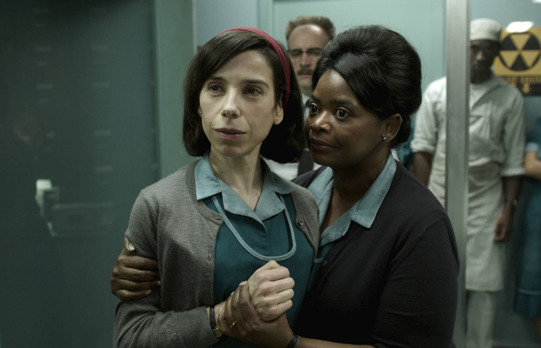 NOMINEES: Sally Hawkins, left, and Octavia Spencer in The Shape of Water. Picture: Fox Searchlight Pictures via AP.