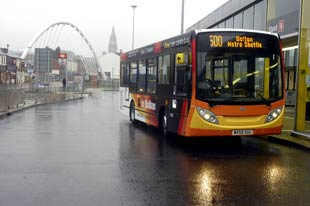 One of the new Bolton shuttle buses
