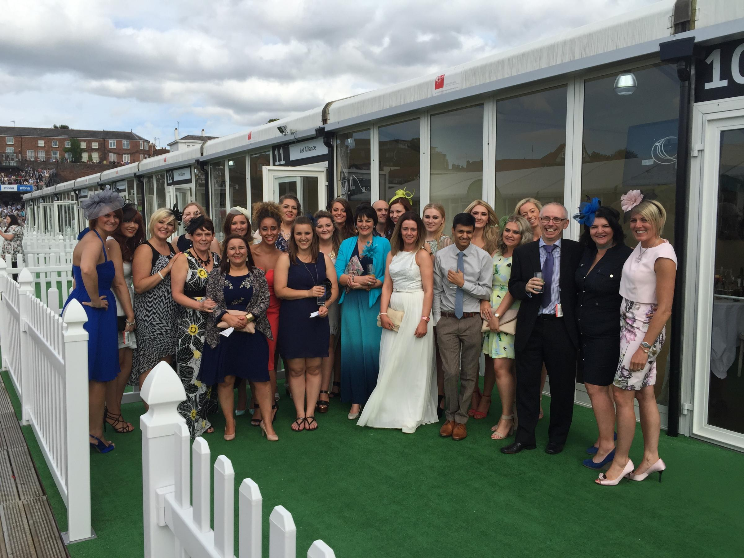TEAM: Staff from Jobwise on a day out at Chester Races