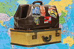 The Bolton News: Suitcases with Map