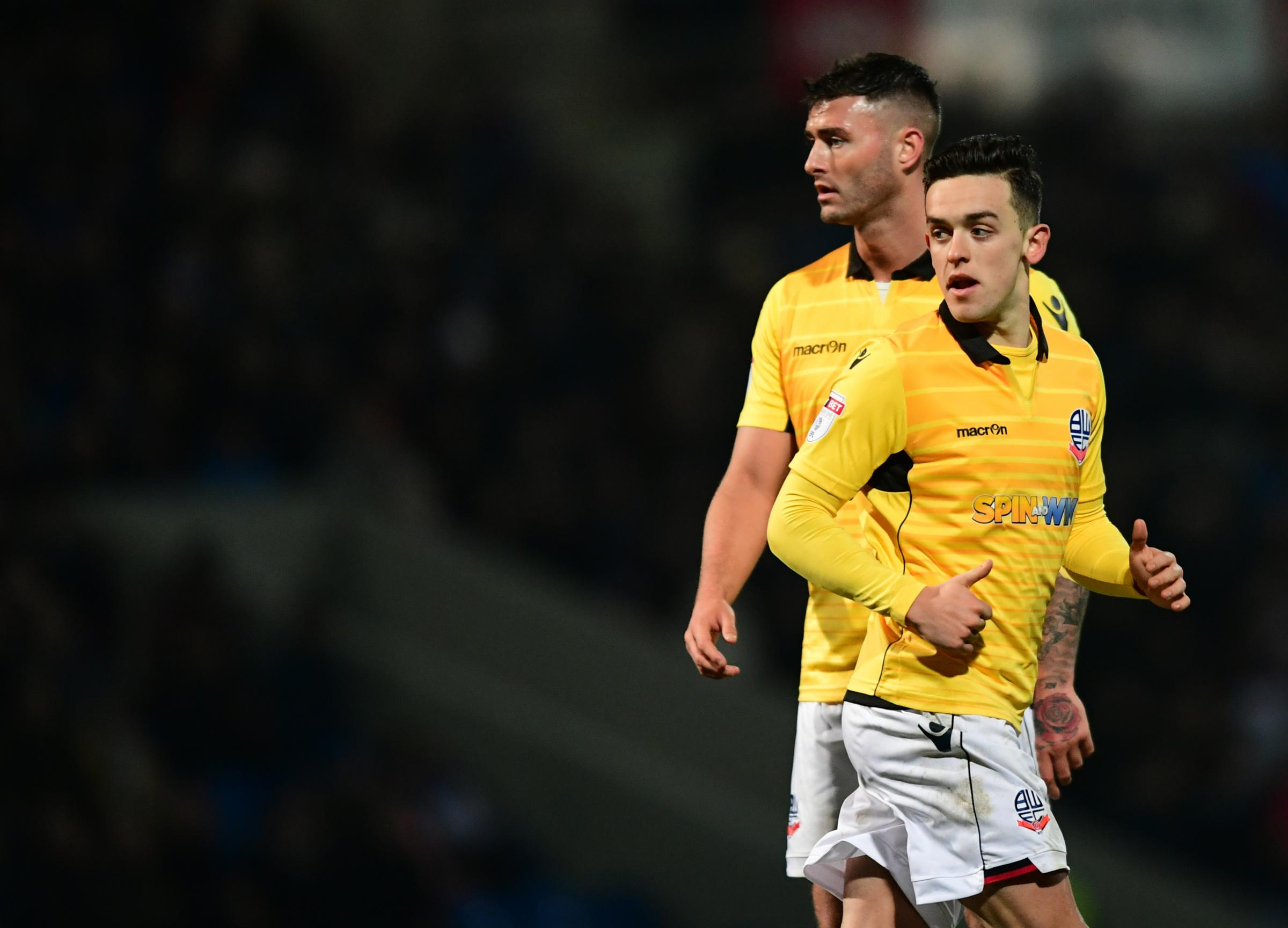 ONE IN, ONE OUT: Gary Madine, left, has joined Cardiff City but Zach Clough has returned to the Macron