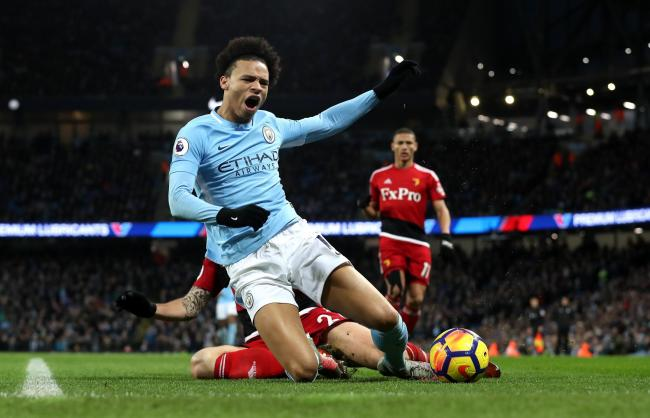 OUCH: Manchester City's Leroy Sane has been on the end of some strong challenges this season