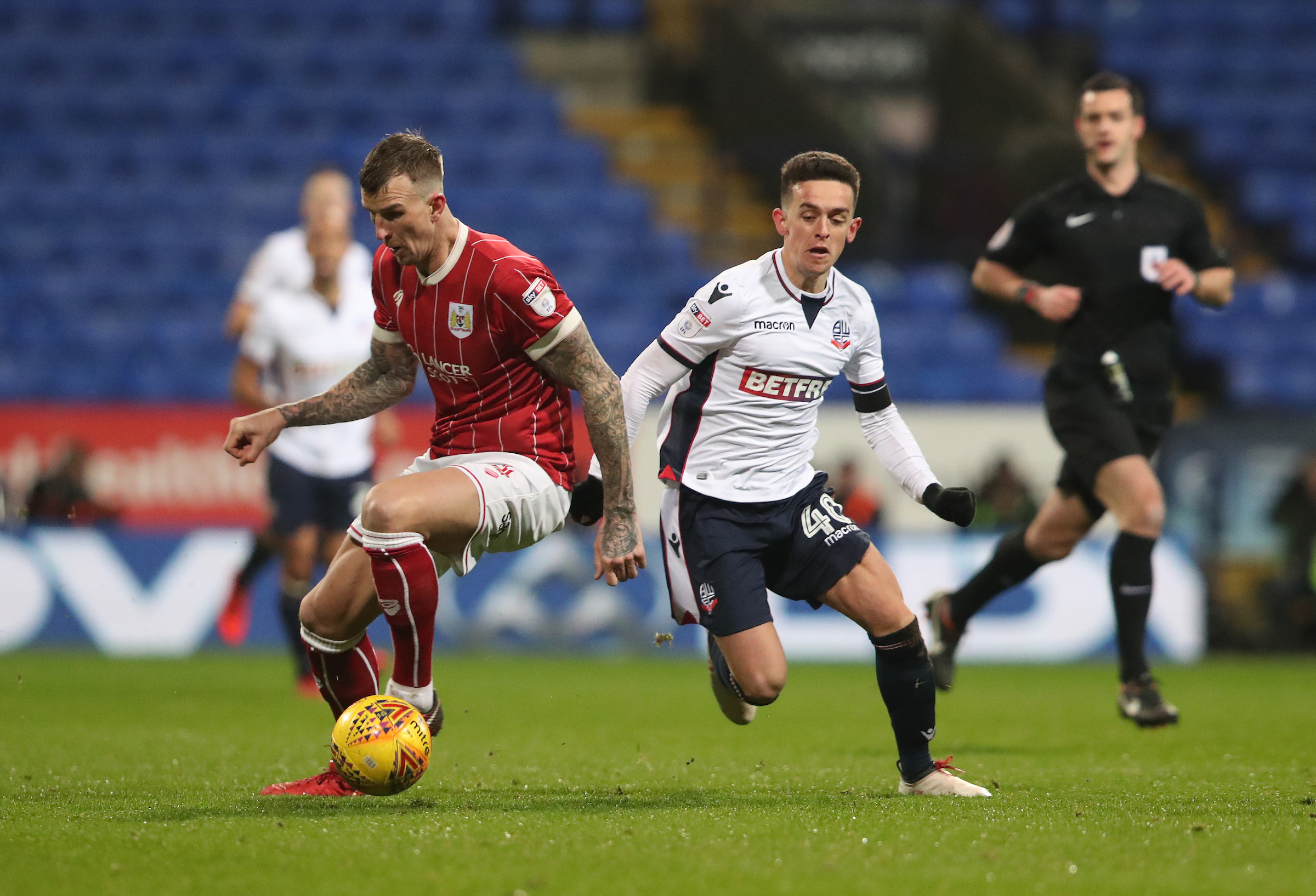 Zach Clough in action against Bristol City