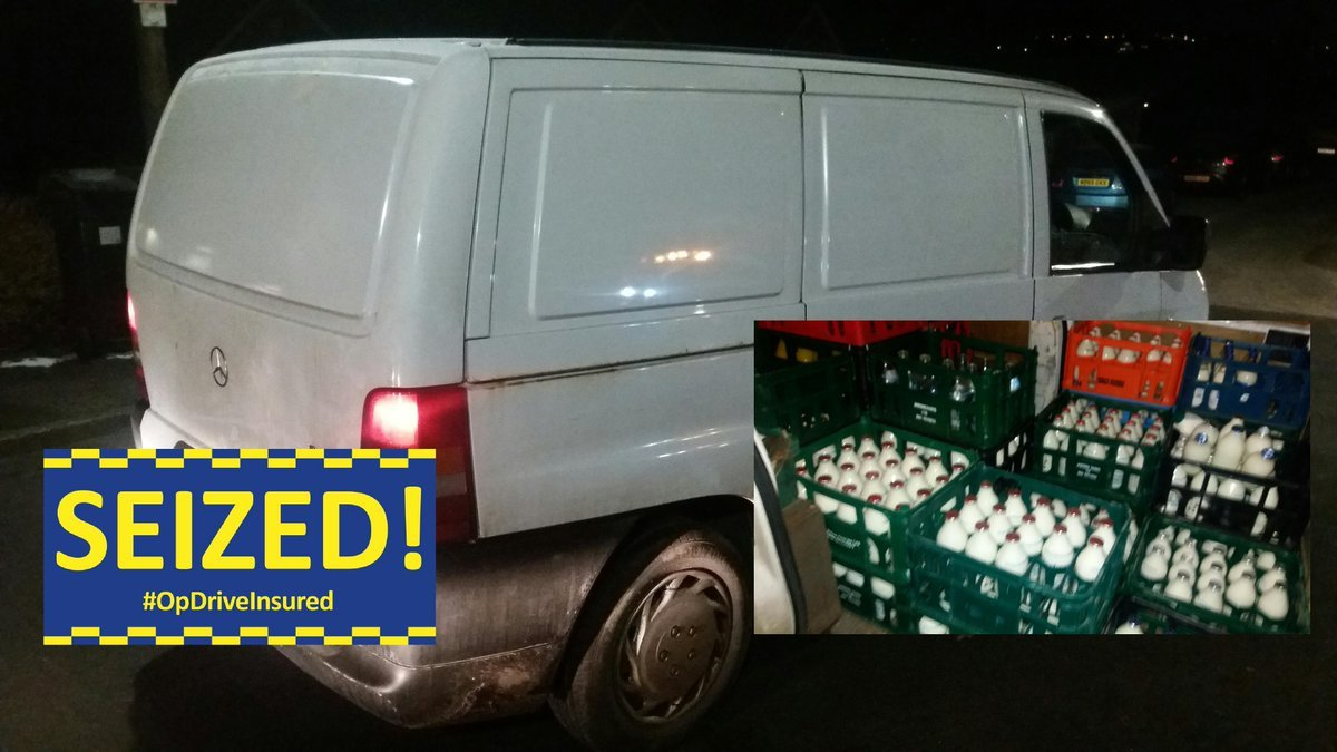 SEIZED: The milkman's van. Picture from GMP Traffic