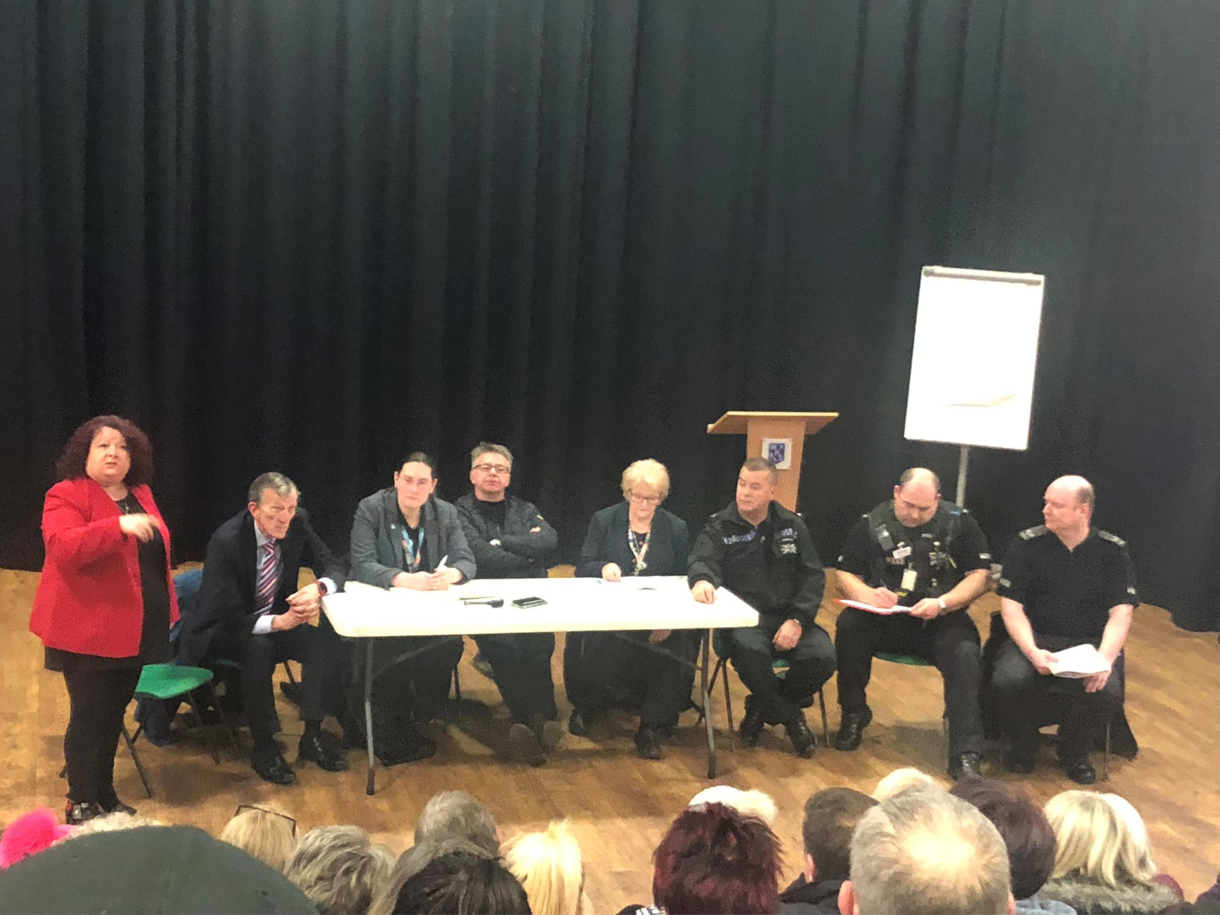 DEBATE: Councillors and police officers at the Westhoughton crime meeting