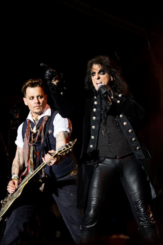 ROCK: Johnny Depp and Alice Cooper
