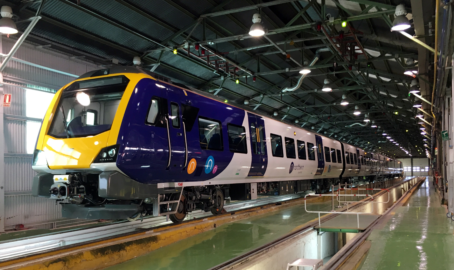Northern Rail's new fleet of trains under construction at the CAF factory in Zaragoza, Spain.