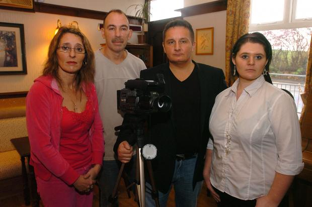 GHOST HUNT: Above, psychic investigator Pete Fairburn, second right, with, from left, Mandy Grimshaw, Steve Porter and Stephanie Grimshaw of the Unity