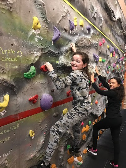 ACTIVE: Youngsters enjoy a bouldering session with WAVE Adventure