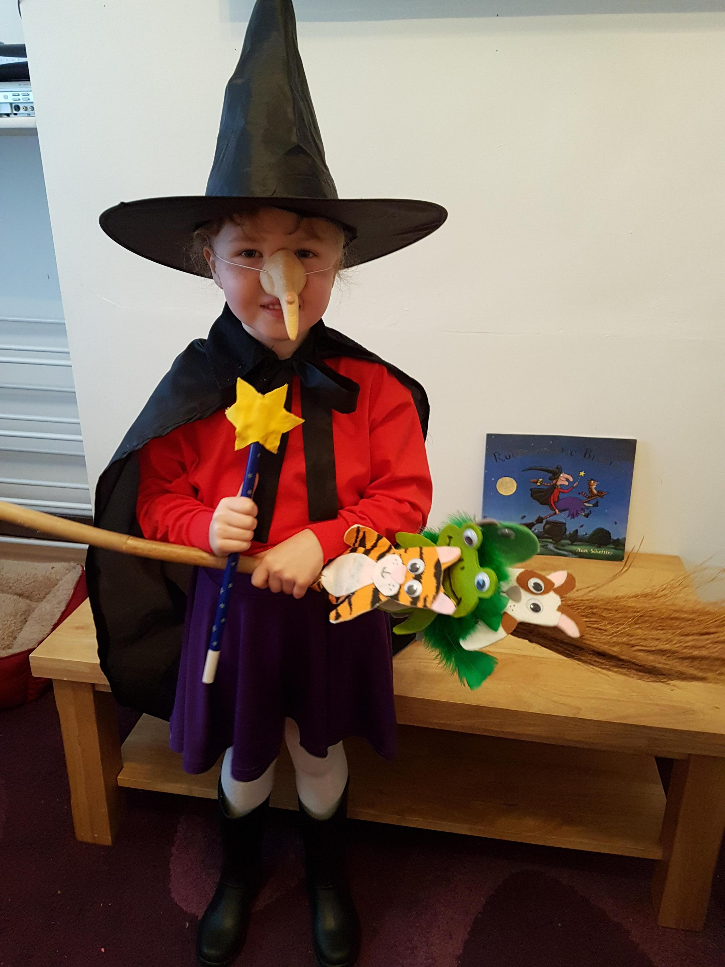 My daughter has dressed up as the witch from Julia Donaldsonu0027s book u0027Room on the  sc 1 st  The Bolton News & World Book Day 2018 - Your Pictures | The Bolton News