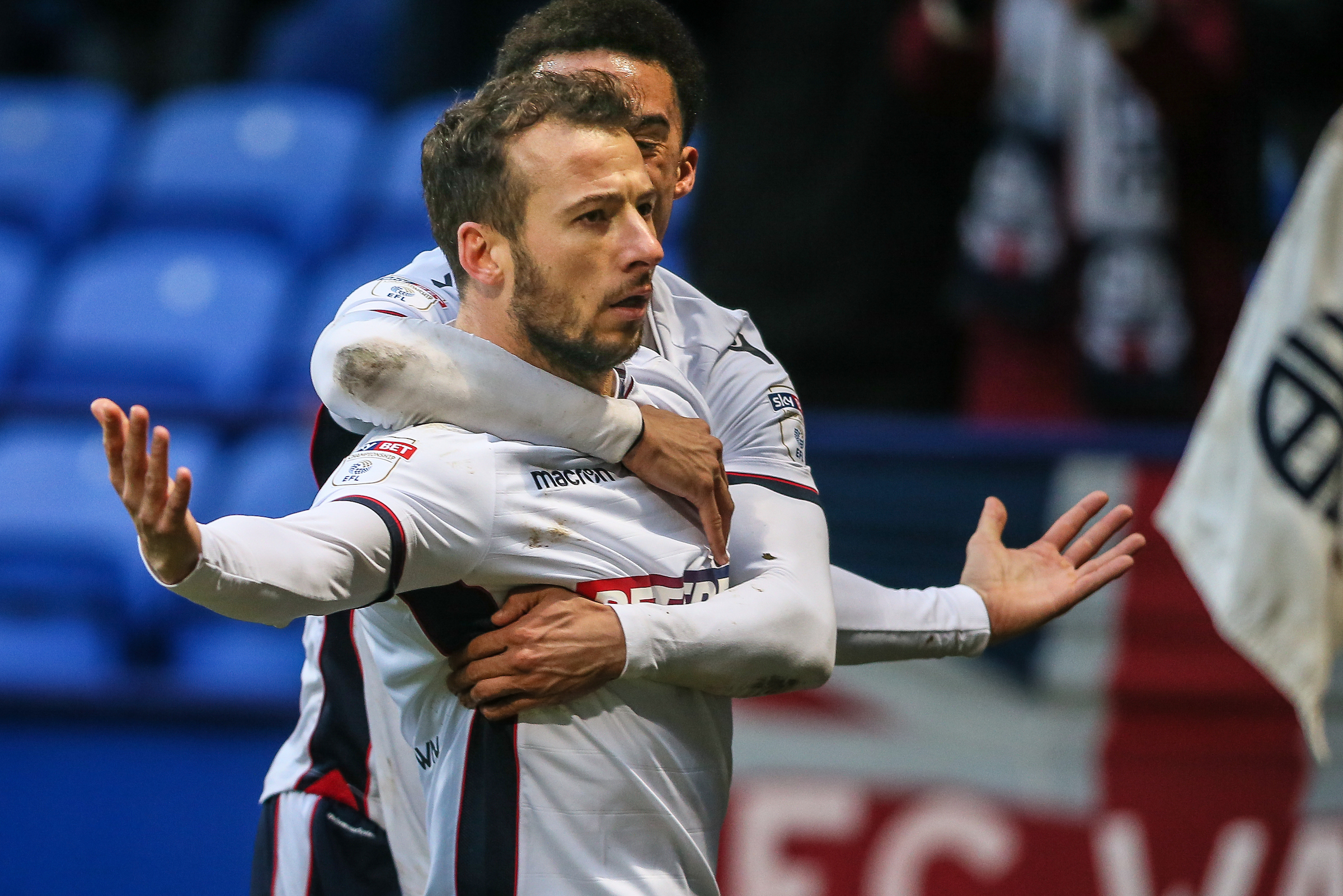 Adam Le Fondre is one of the strikers being challenged to keep hold of his place at Wanderers