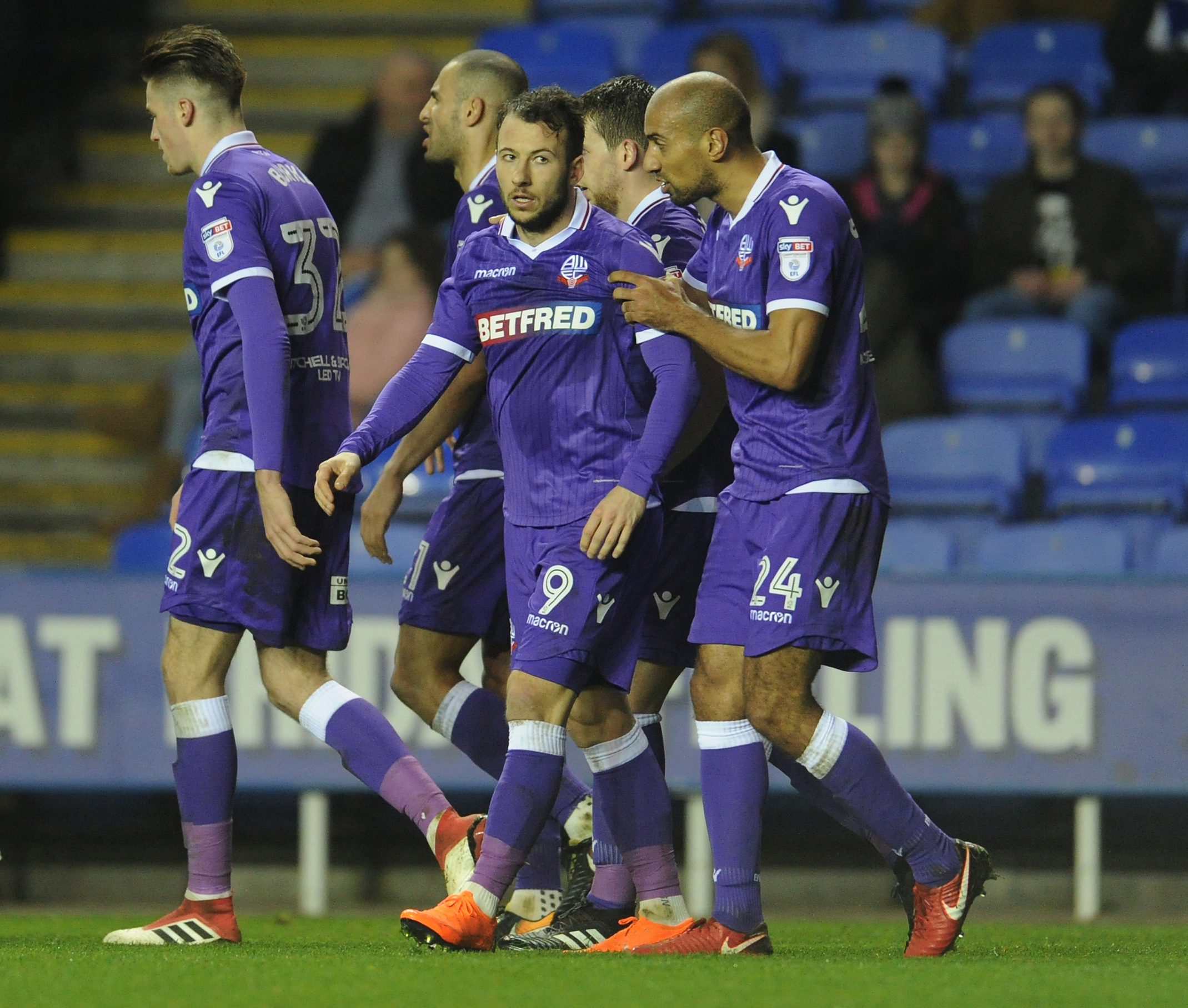 Adam Le Fondre celebrates scoring with team-mate Karl Henry