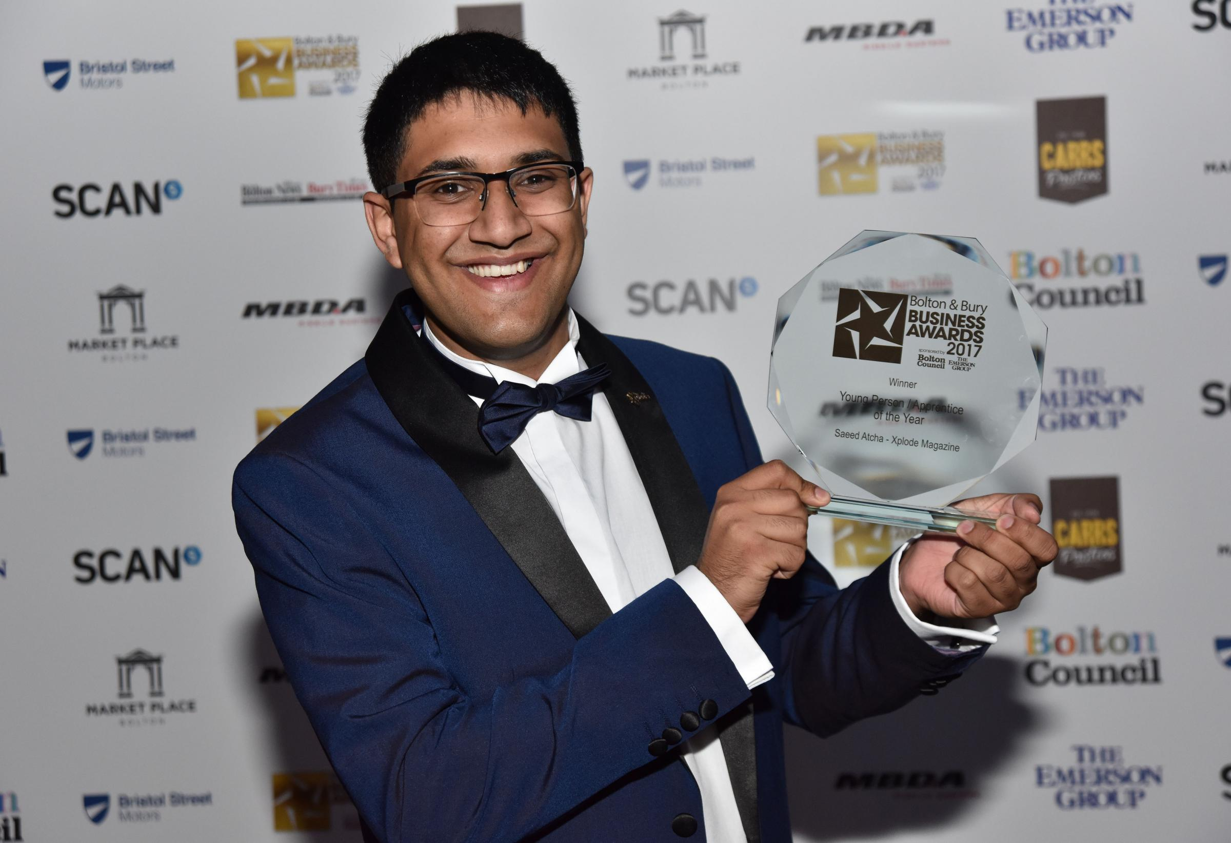 Xplode magazine chief executive Saeed Alcha with his latest business award