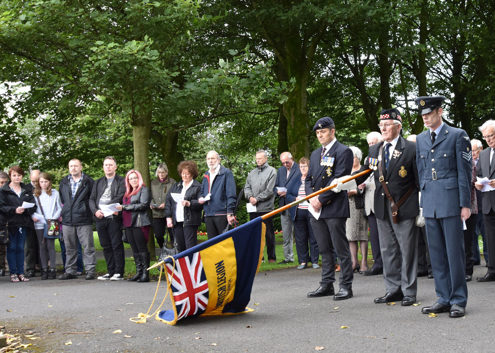 A short service of dedication was held at Blackrod Cenotaph on 10th July 2016