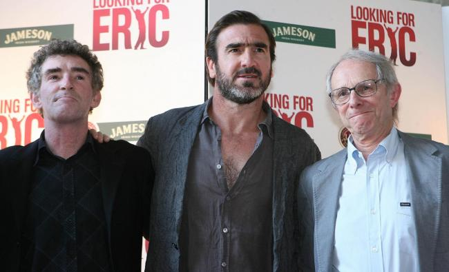 MOVIE MAGIC: From left, actor Steve Evets, former footballer Eric Cantona and film director Ken Loach