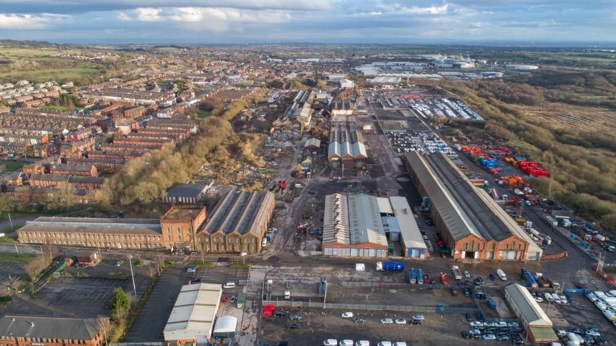 SITE: A picture of the entire Horwich Loco works site taken with a drone by Andrew Coward