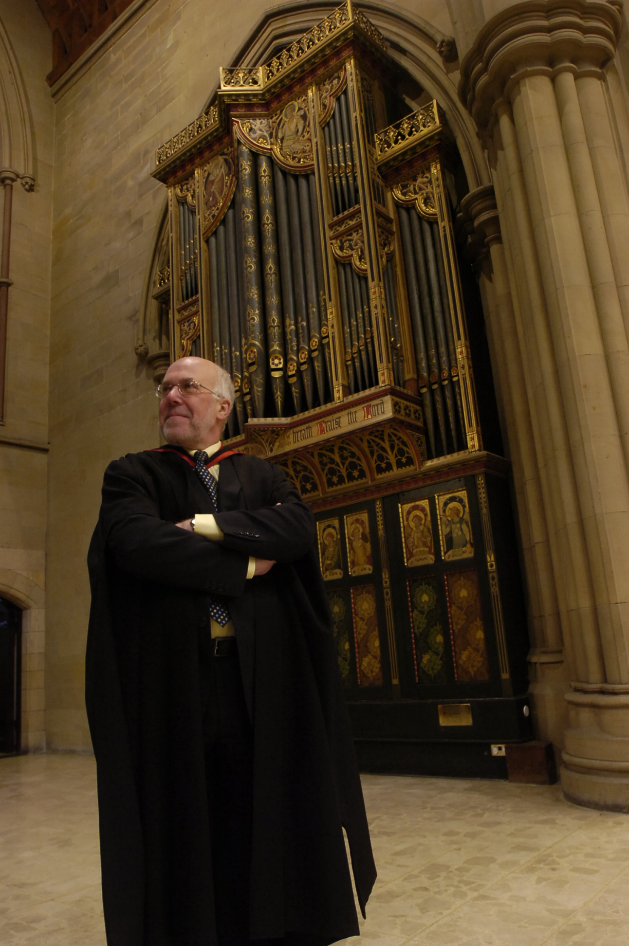 Stephen Carleston, organist at Bolton Parish Church