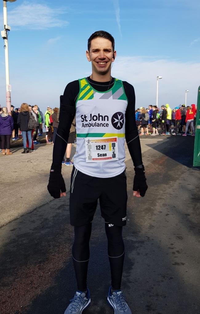 Bolton london marathon man will race for st john ambulance the sean le gros from bolton will be running the london marathon thecheapjerseys Images