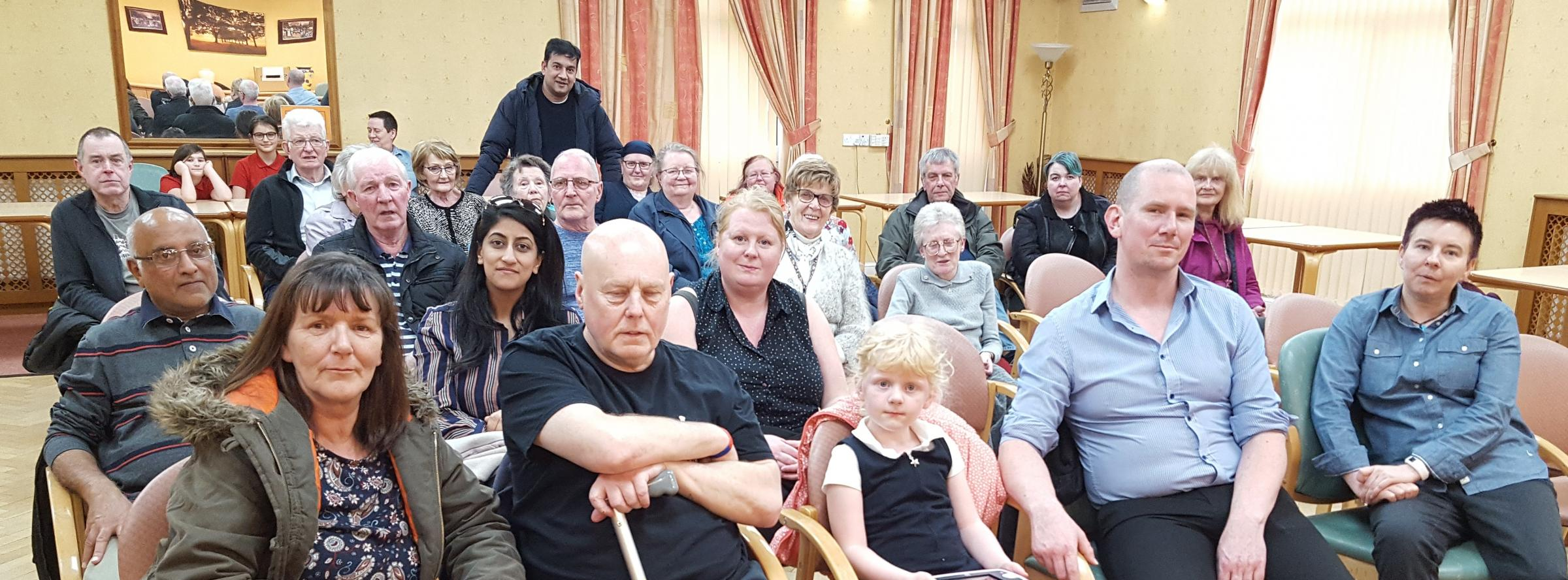 MEETING: Several residents came together at Hulton Lane Community Centre to form an action plan