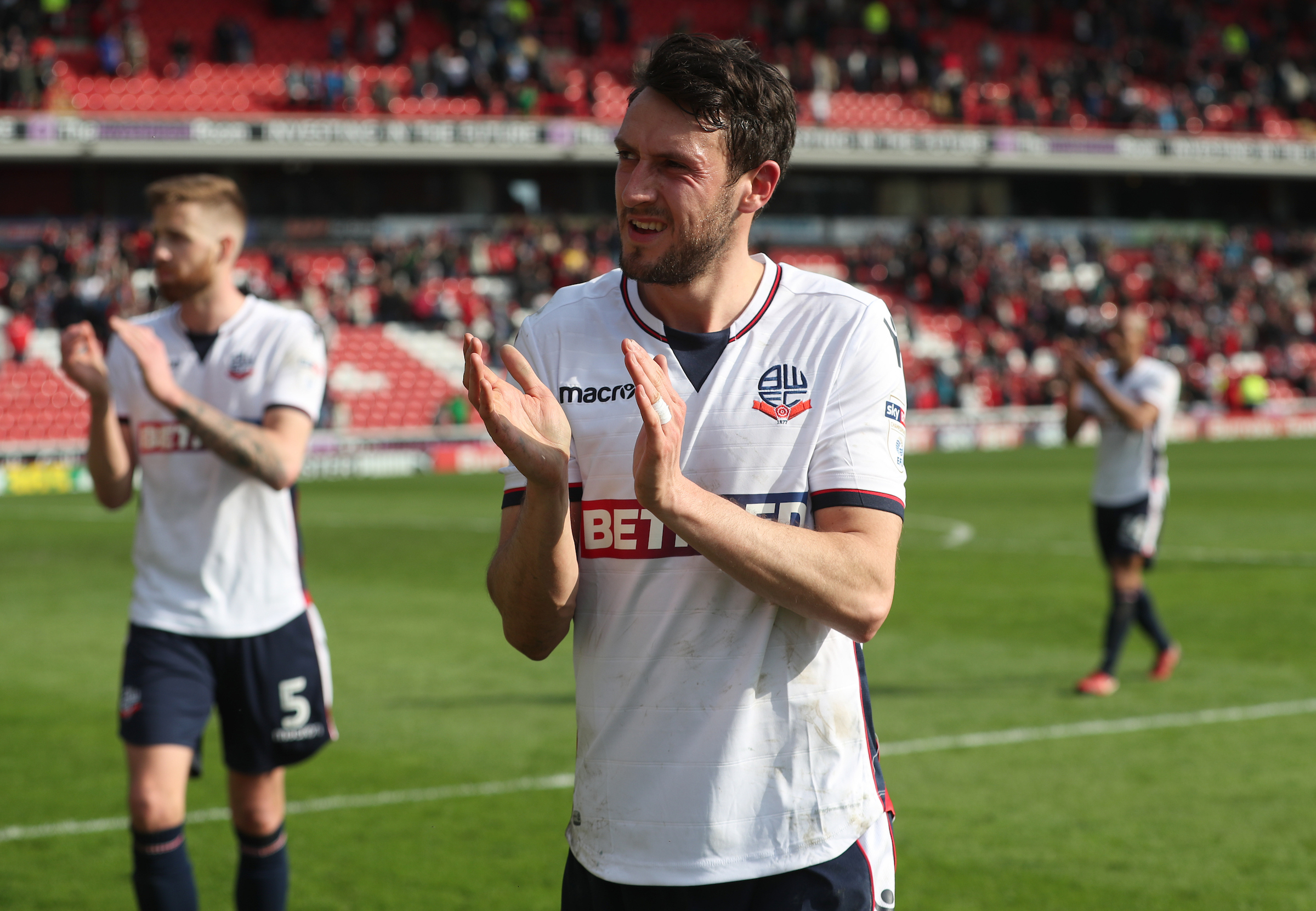 GIVE HIM A HAND: Will Buckley's second-half display at Oakwell was applauded