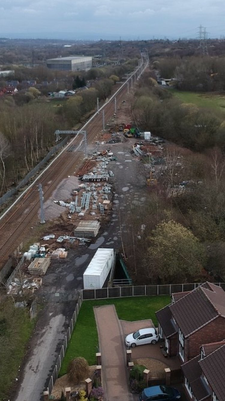 DISRUPTION: The Hazlemere estate is adjacent to a Network Rail site