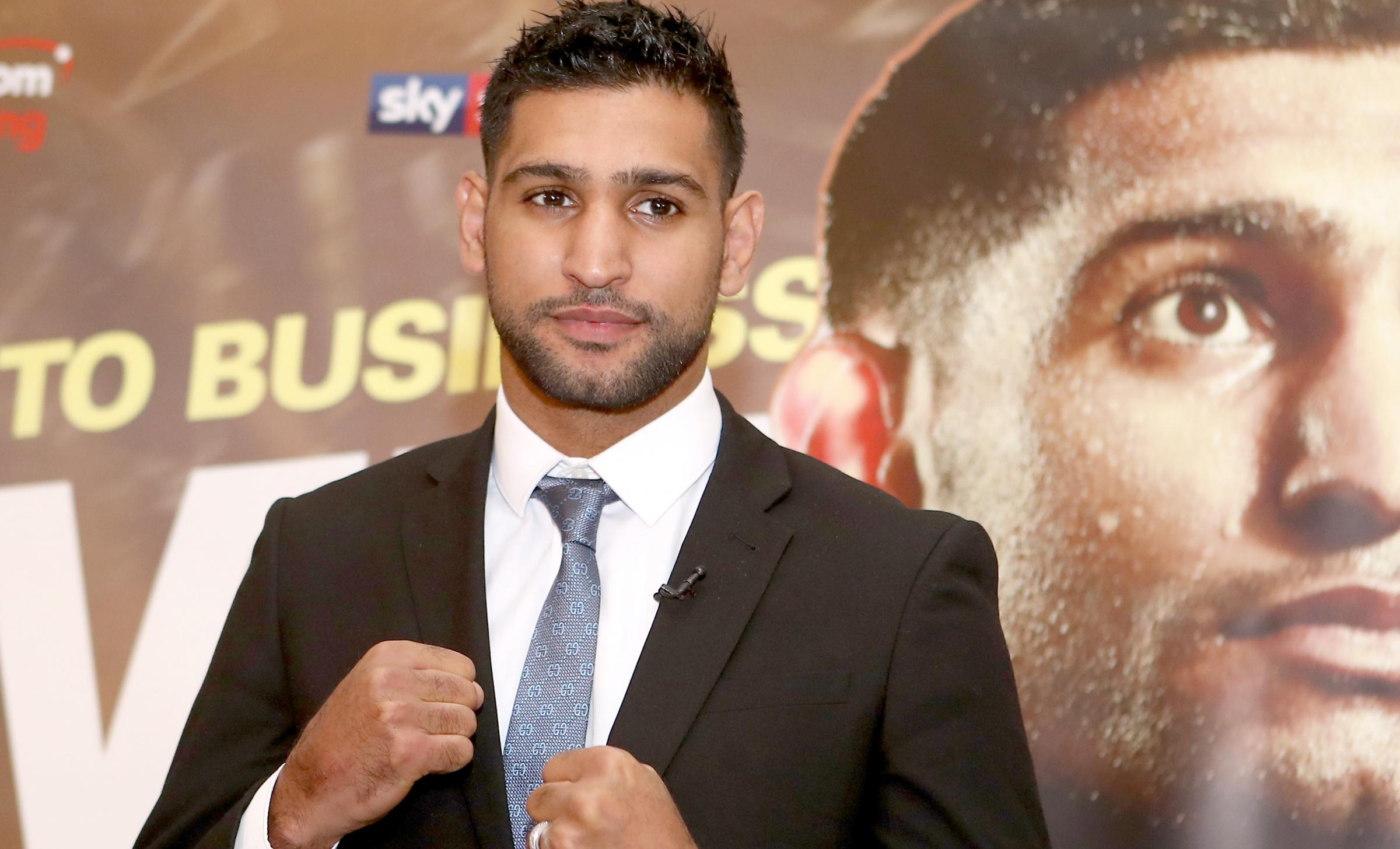 READY: Amir Khan during a press conference for his next fight