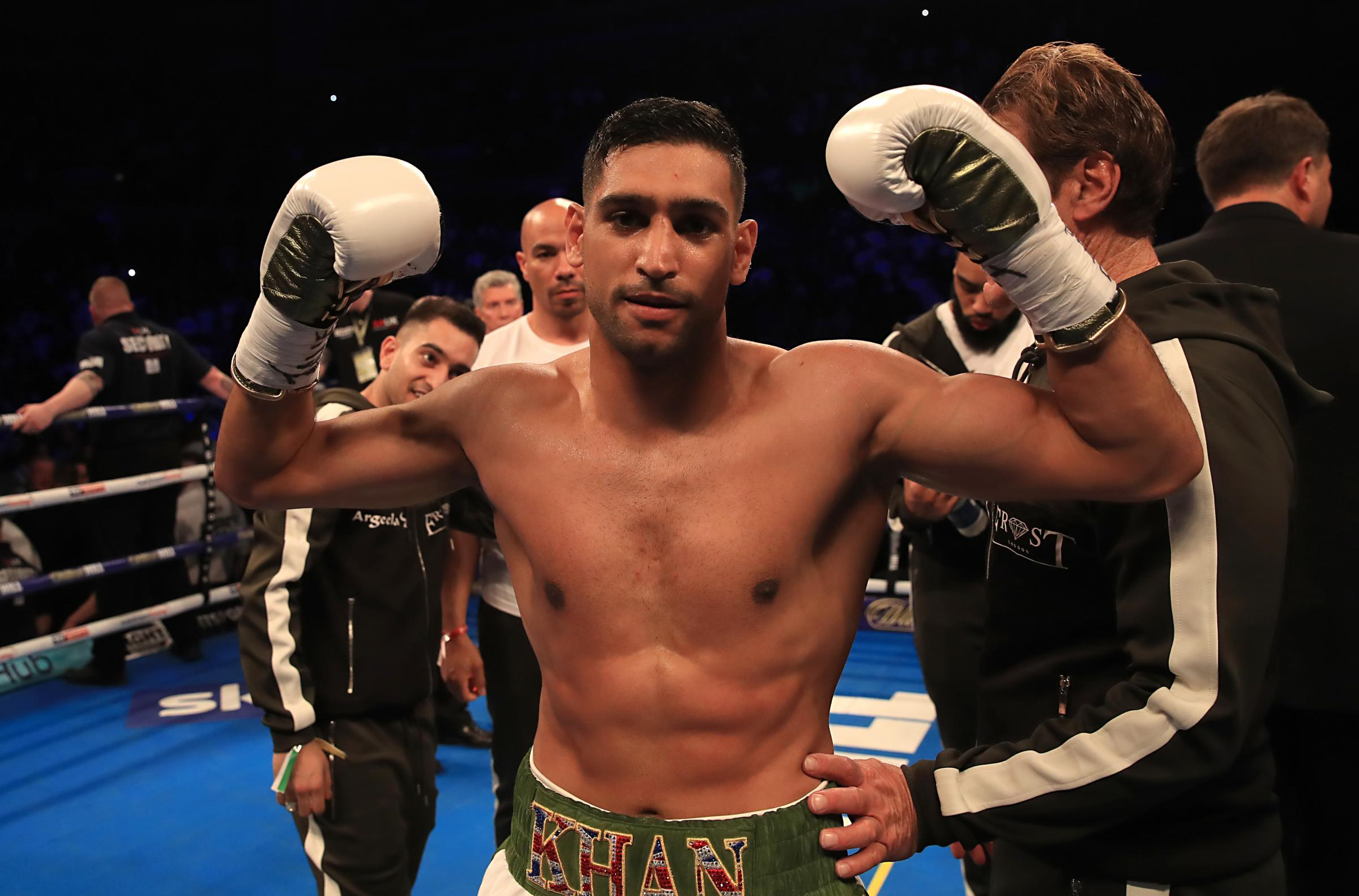 RING RETURN: Amir Khan is back in action next month