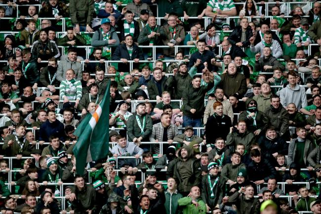 SCOTTISH SUCCESS: Celtic fans in the safe standing area at Parkhead