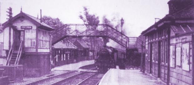 Turton and Edgworth station in the 1950s