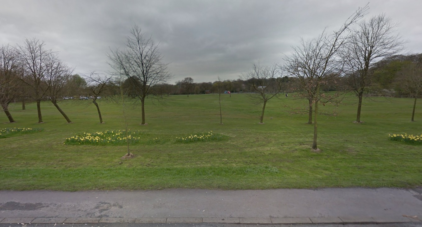 ESCAPE: The men ran towards Moss Bank Park. Google Maps.