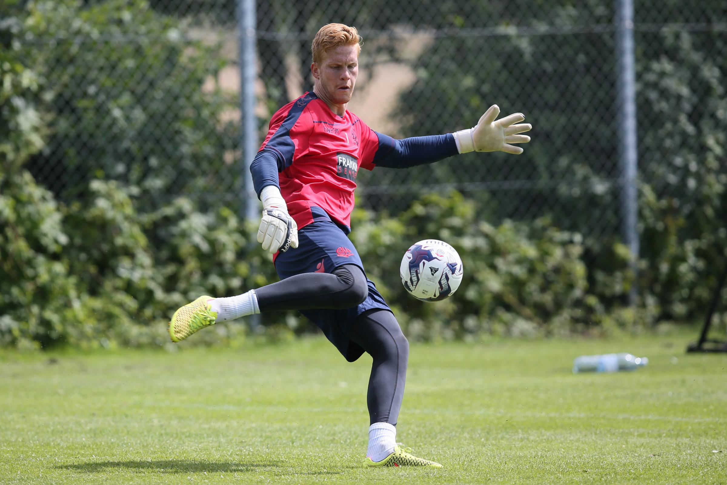 Bolton Wanderers goalkeeper Ben Amos during training, Malmo, Sweden on July 8th 2016.