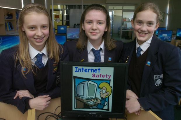 VITAL LESSONS: George Tomlinson pupils, from left, Ella Bradbury, aged 13, Emily Walsh and Emma Bradley, both aged 12