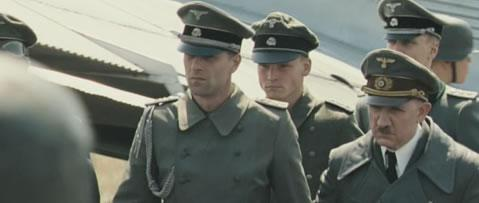 CAMEO ROLE: David Bamber, far right, as Adolf Hitler in the new film Valkyrie